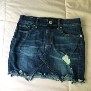Distressed Express Denim Skirt